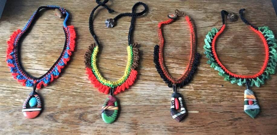 New necklaces created by DoubleStitch during our retreat