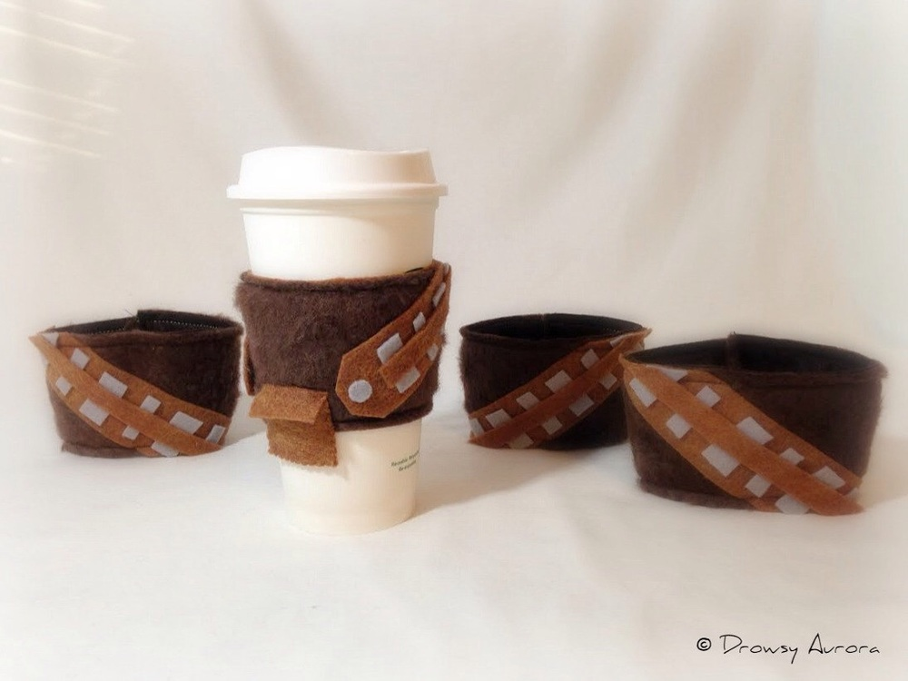 Chewbacca inspired coffee sleeves