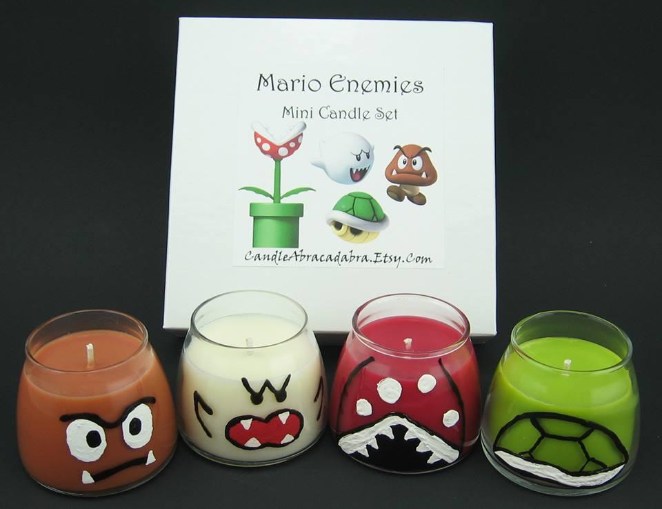 Mario Enemies Mini Candle Set from Candle Abracadabra