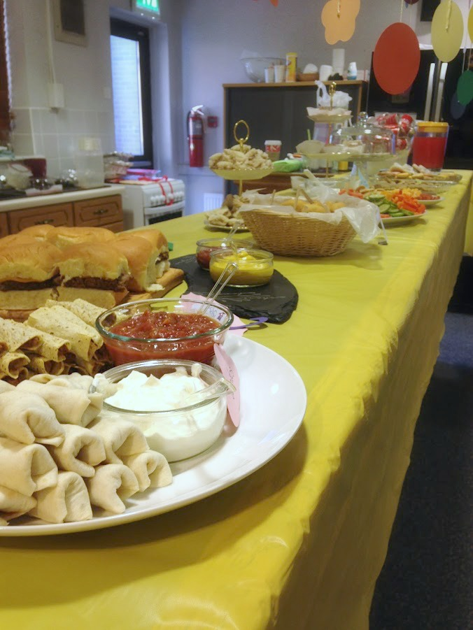 The full spread of food