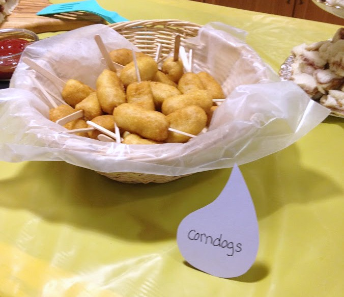 Miniature corndogs