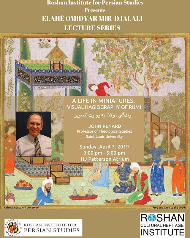 Join us this Sunday, April 7th from 3 - 5 PM for a lecture on the life of the Persian poet Rumi! #pfp #umd #learnpersian #persianatmaryland #rumi