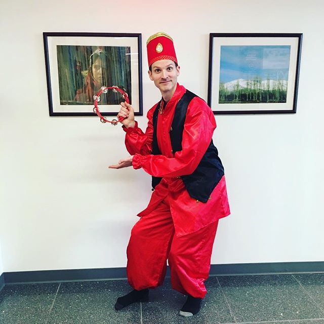 The Persian Flagship Program will be heading to NYC this weekend to participate in the NYC Persian Parade! Here's a sneak peek of our Capstone student Michael dressed as Haji Firooz! #persianatumd #nycpersianparade #norooz #learnpersian #universityofmaryland