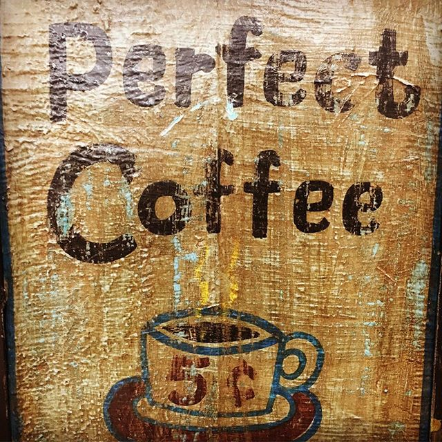 There's nothing like a perfect cup of coffee ☕️ especially when it's only 5 cents! #gonearethedays #5centcoffee