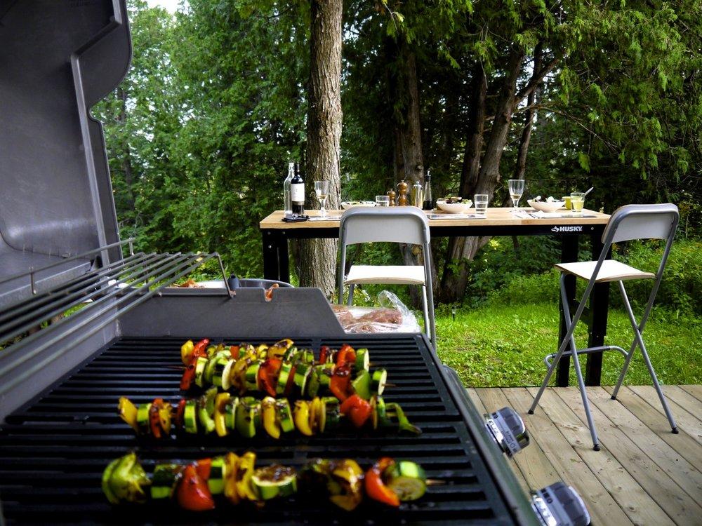 BBQ privé et un patio 'bistro'