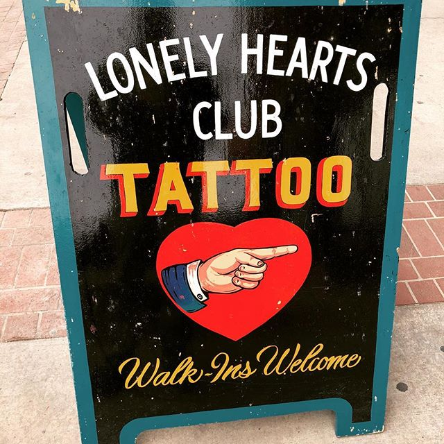 We've been locked away in a hotel room working on our first feature script and had to get out - stopped at this place @lonelyheartsclubtattoo to check out some designs and gave us some inspiration.