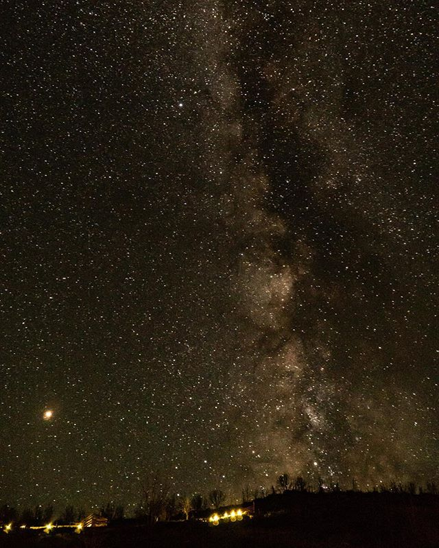Our #labordayweekend first night staying at my mom's property she bought and boy it didn't let us down. Look at part of the #milkyway long exposure using my #sonyalpha #a6300 down near Fairview #utah bottom left I think you can see #mars glad the smoke from wildfires had cleared out so we can look up and feel small as a part of the universe.
