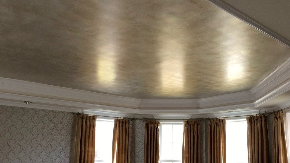 Hand applied to walls, ceilings, furniture, Silver Leaf is a timeless elegant finish that adds class to any space. Left bright and vivid or glazed for a slightly tarnished antique look.