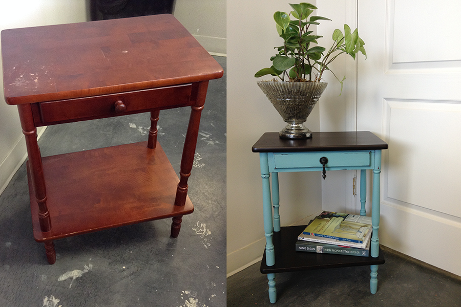 Before and After Java Gel Stain and Provence Chalk Paint™