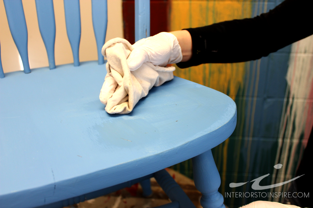 Immediately remove all excess wax by wiping with a clean soft cotton rag (t-shirt rag).