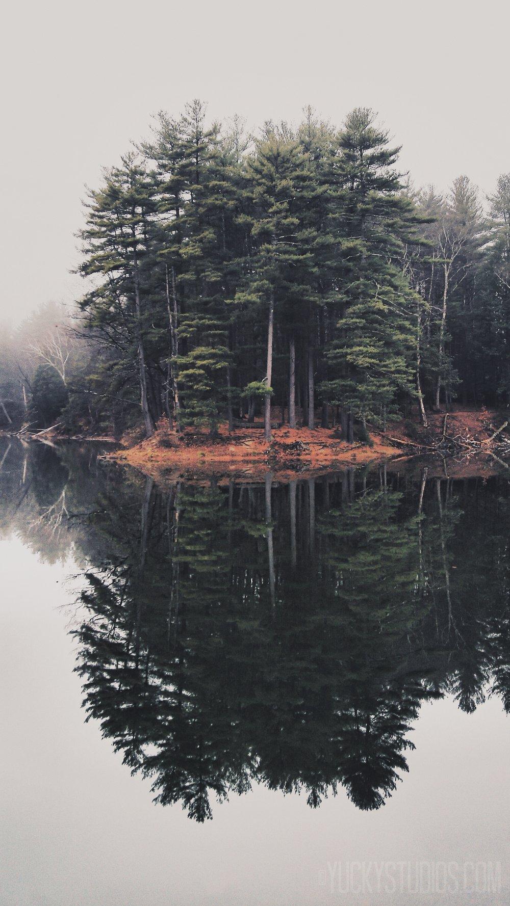 Bray Lake, Mount Tom State Reservation. Holyoke, MA