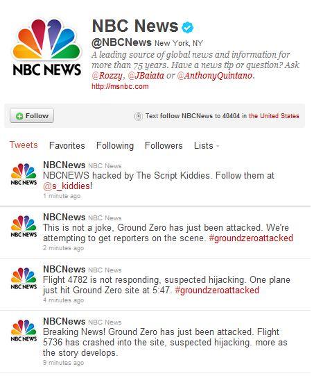 Hacker Group Tweets False News of Terrorist Attack from NBC