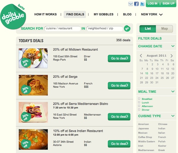 Groupon Alternative Daily Gobble Offers Exclusive