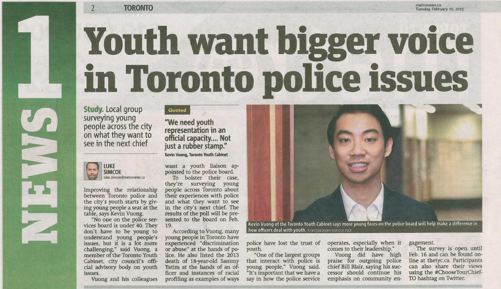 20150210 Metro News - Youth and Toronto Police Services Board.jpg