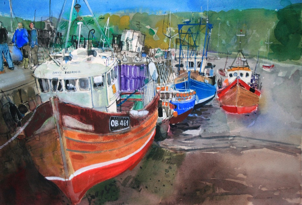 Saturday afternoon, quayside, Tobermory, Isle of Mull, Peter Quinn RWS 2015 LOW.jpg