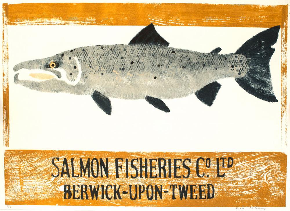 Mick Manning - Berwick Salmon, Pochoir.jpg