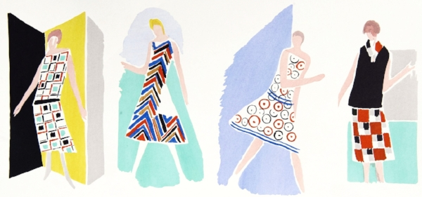 Sonia Delaunay, Fashion Designs, Pochoir