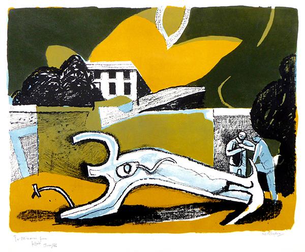 VAUGHAN, Keith - The Walled Garden, 1951, lithograph, 49.5 x 64cm.jpg