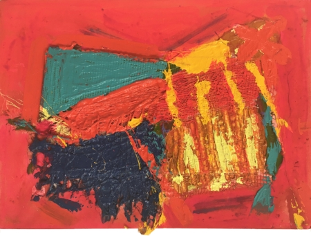FROST, Anthony - Flame Rave II, Mixed media on card, 15 x 21cm.jpg