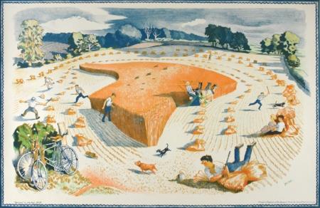 NASH, John - Harvesting, 1940s, Lithograph, 49.5 x 76cm.jpg