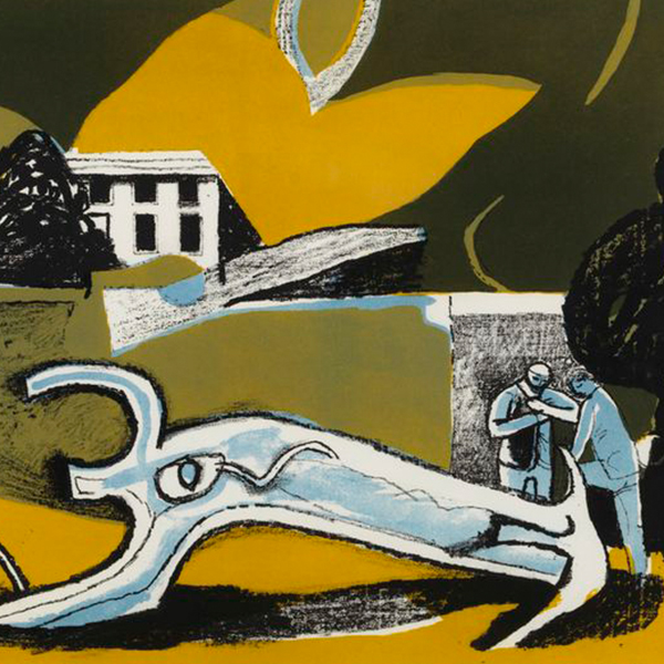 SQUARE VAUGHAN, Keith - The Walled Garden, 1951, lithograph, 49.5 x 64cm.jpg