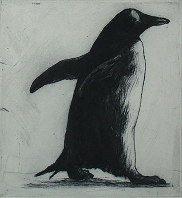 Walking, 2009  Etching (edition of 45) 10.5 x 10cm