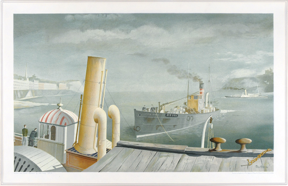 Drifters and Paddle Steamers  Lithograph 49.5 x 76cm