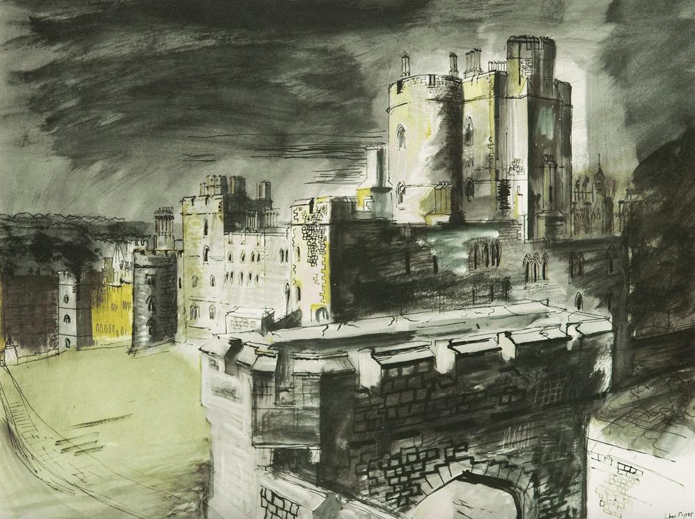 Windsor Castle  Lithograph 26.7 x 36.9cm