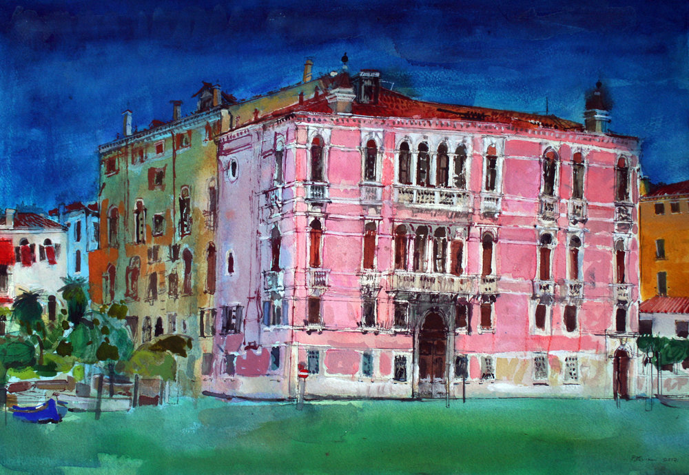 Palace, Grand Canal, Venice  Watercolour on paper 38.2 x 56cm