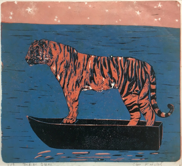 KNOWLES, Sam - Indian Ocean, Reduction linocut.jpg