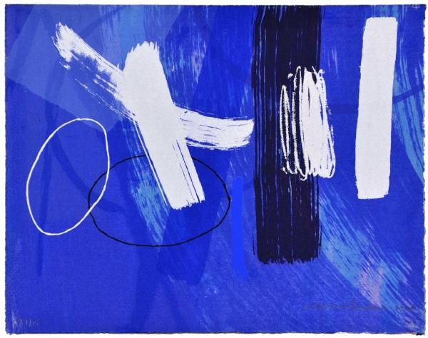 Barns-Graham, Wilhelmina - Millennium Blue II, 2000, Screen print on paper, 24 x 30.6cm.jpg