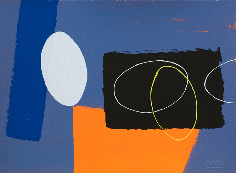 Wilhelmina Barns-Graham, Cobalt and Orange Playing Games, 2007, Screenprint, £975 or £97.50 per month with Own Art EMAIL.jpg