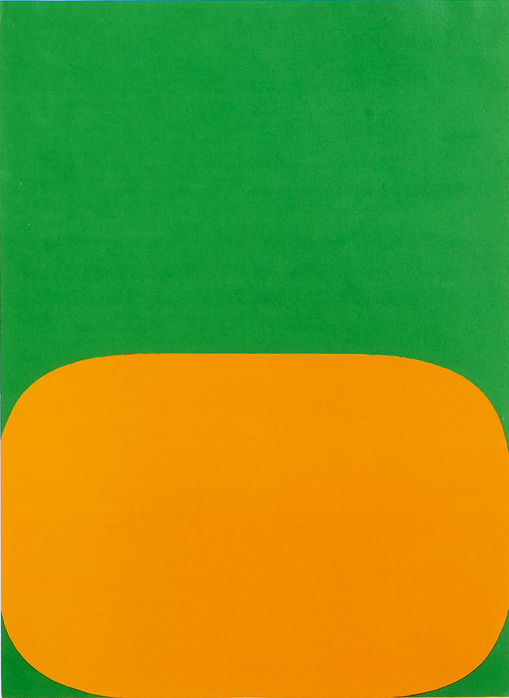 Orange and Green, 1964  Lithograph 27.9 x 38.1cm
