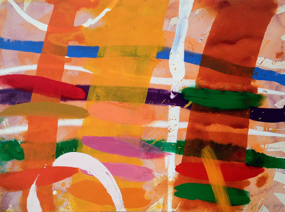Avenue,  1987 Gouache on paper 55.9 x 76.2 cm