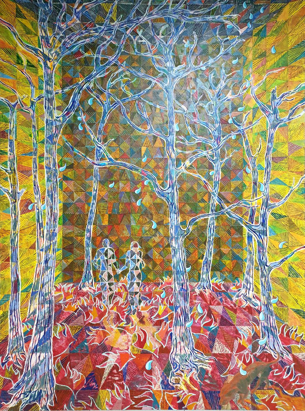 Josh Raz, Folie a Deux, Oil on canvas, 135 x 180cm, 2019.jpg