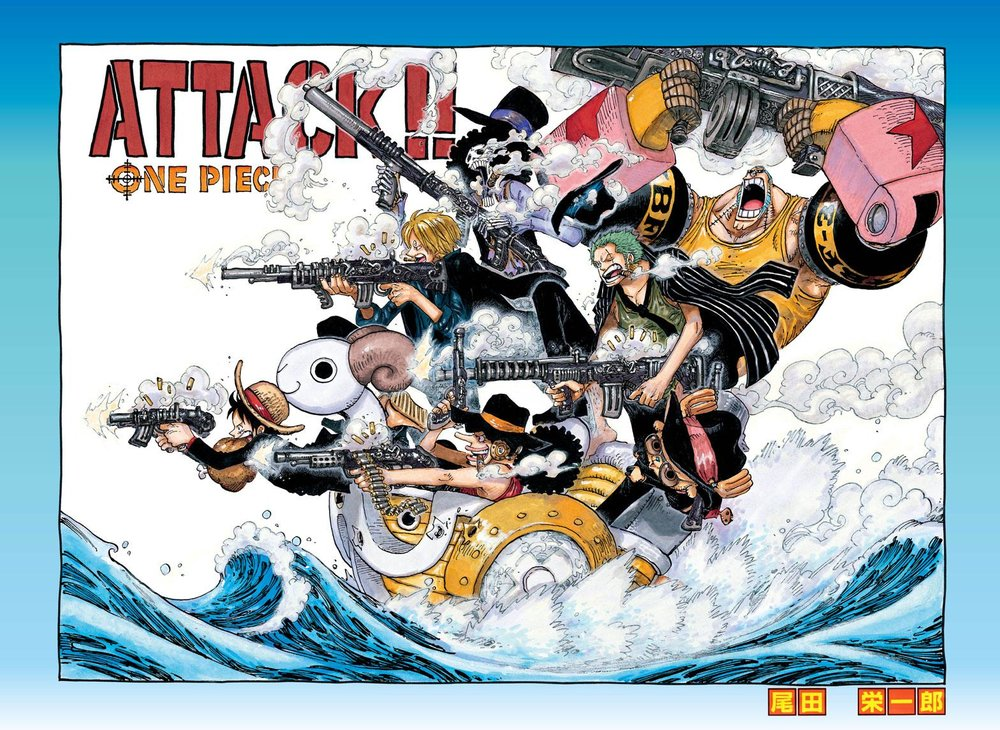Just one of the many hundreds of colour spreads Oda has created for his series