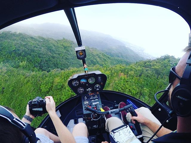 #helicopter #hawaii #filming #falls