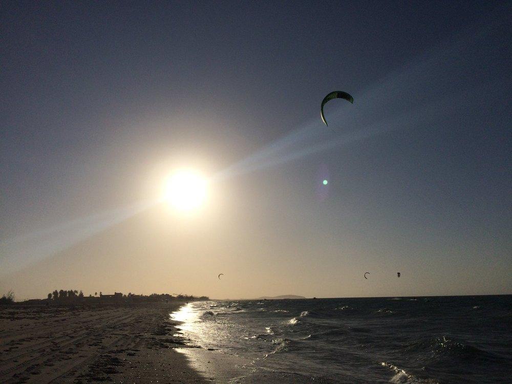 Pôr do sol praia do preá.