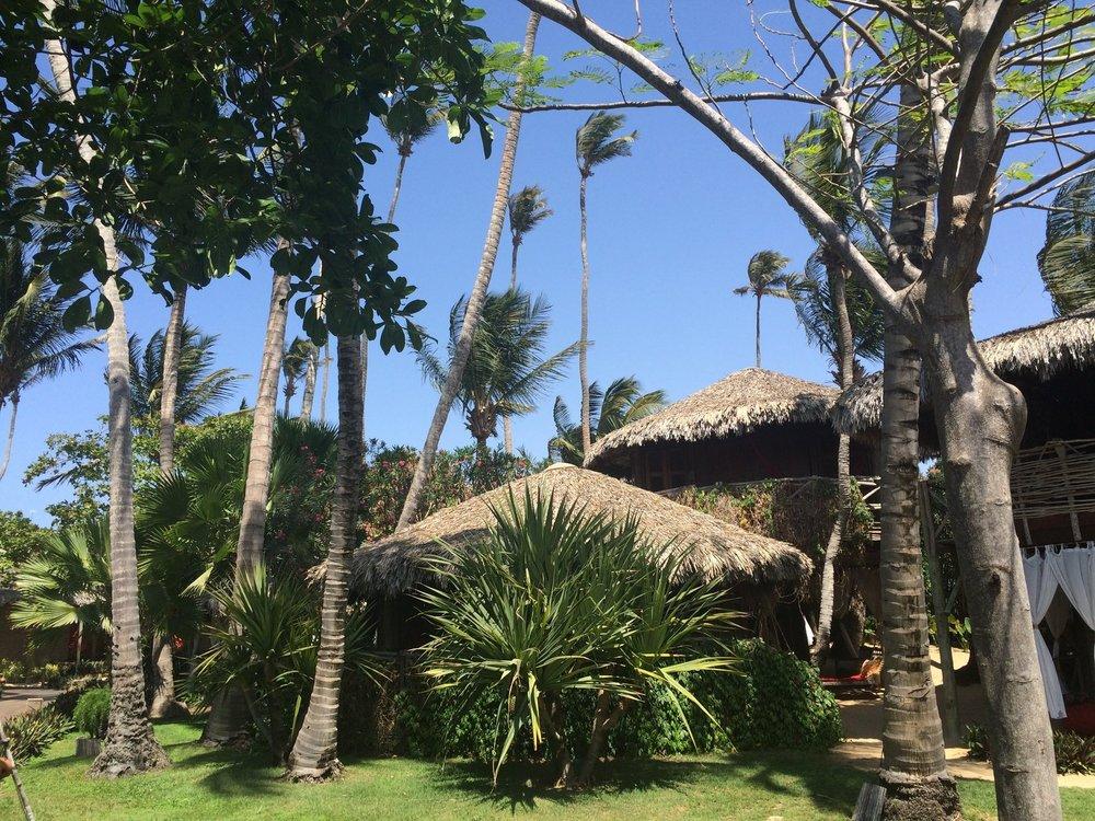 Palafita vista duna Pousada Vila Kalango.