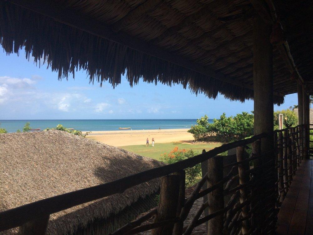 Vista do café da manhã Pousada Vila kalango Jericoacoara.