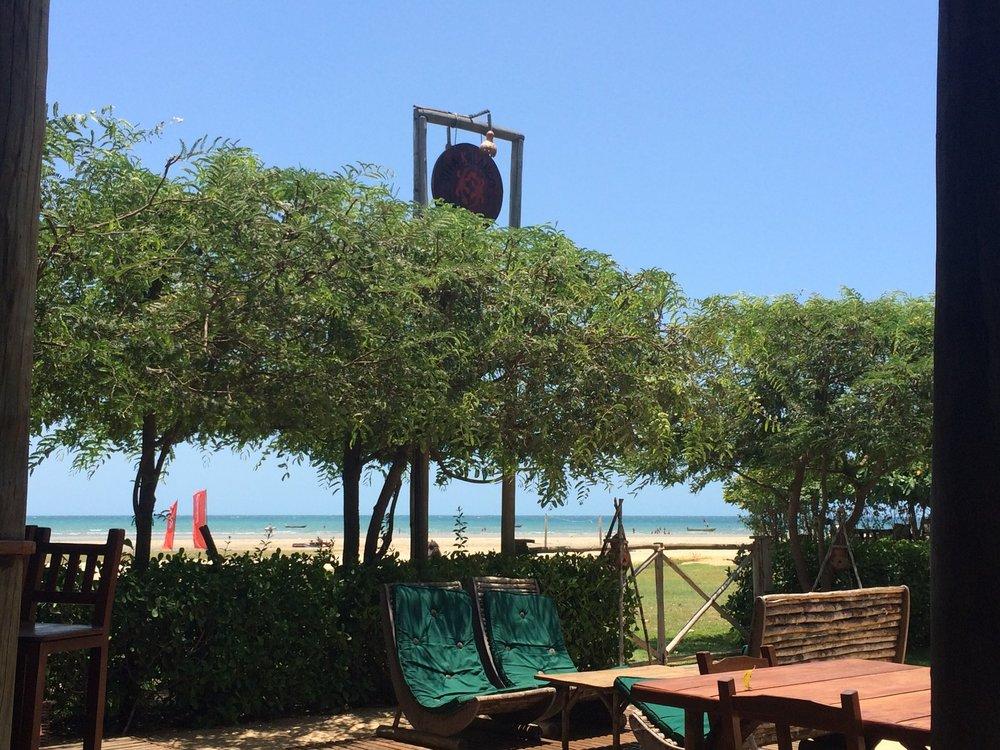 Vista do bar durante do dia Pousada Vila Kalango Jericoacoara.