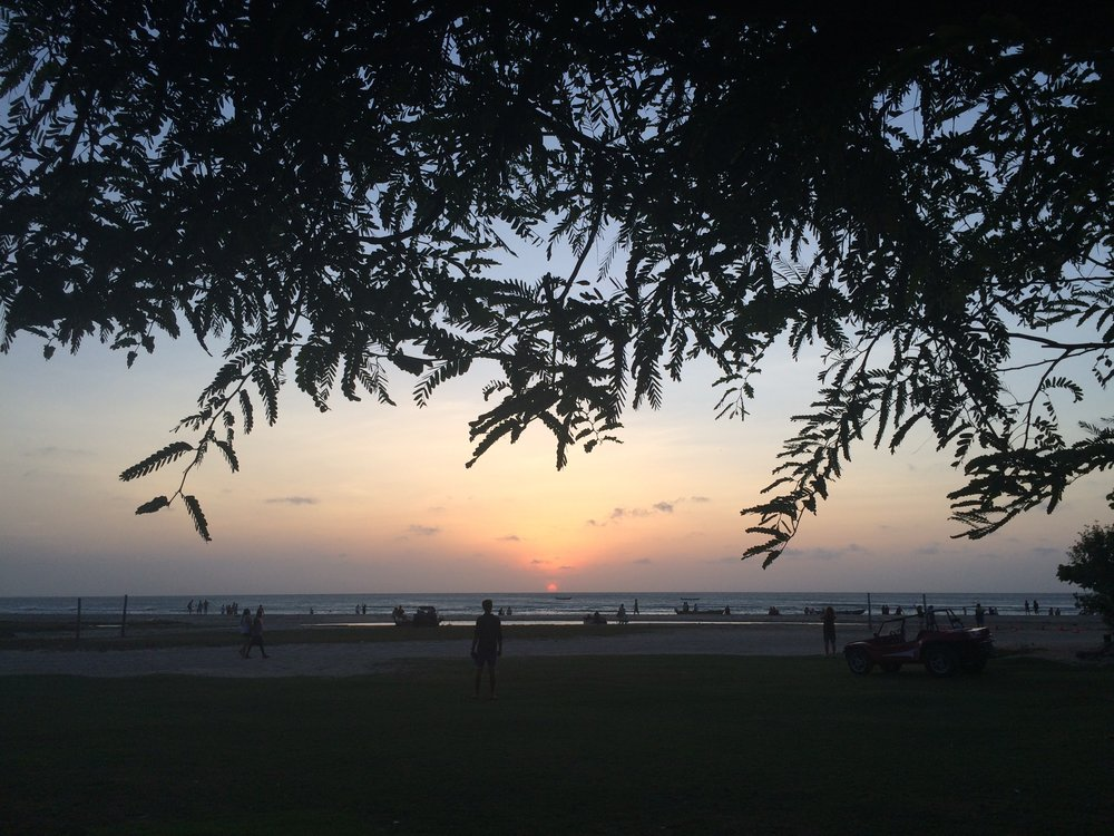 Pôr do sol maravilhoso, vista da pousada Vila Kalango.
