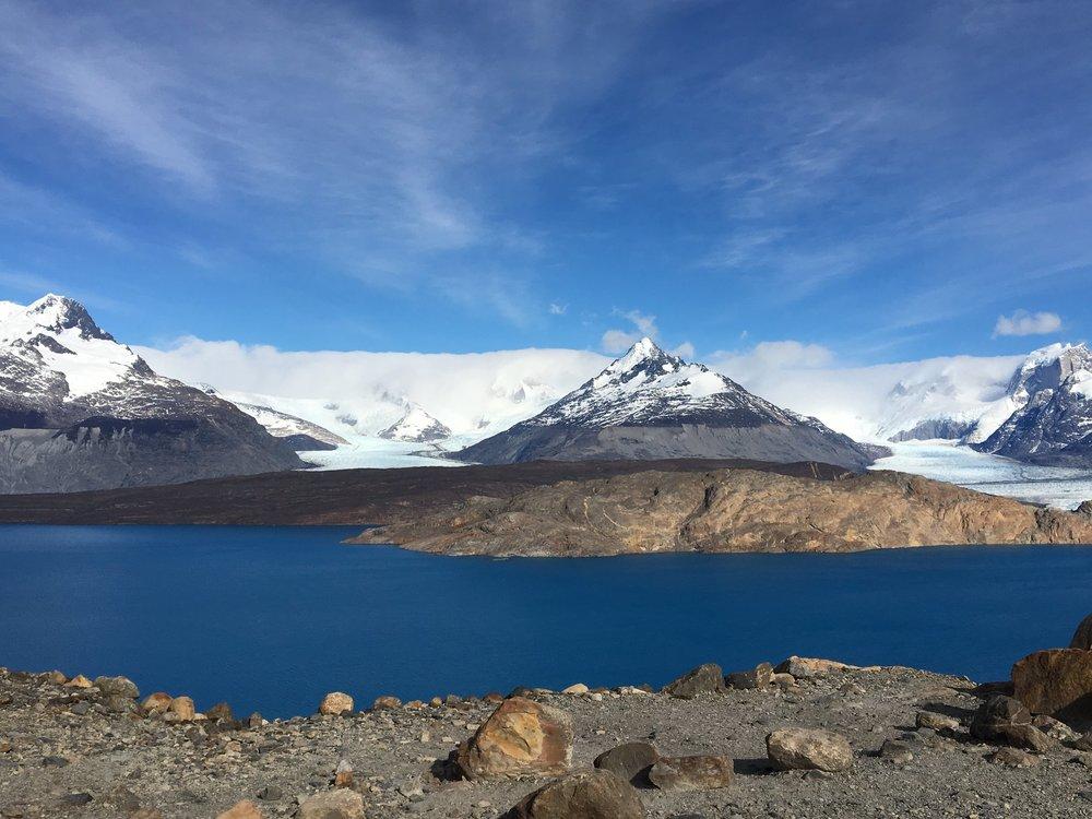 Glaciar Upsala, vista do mirante.