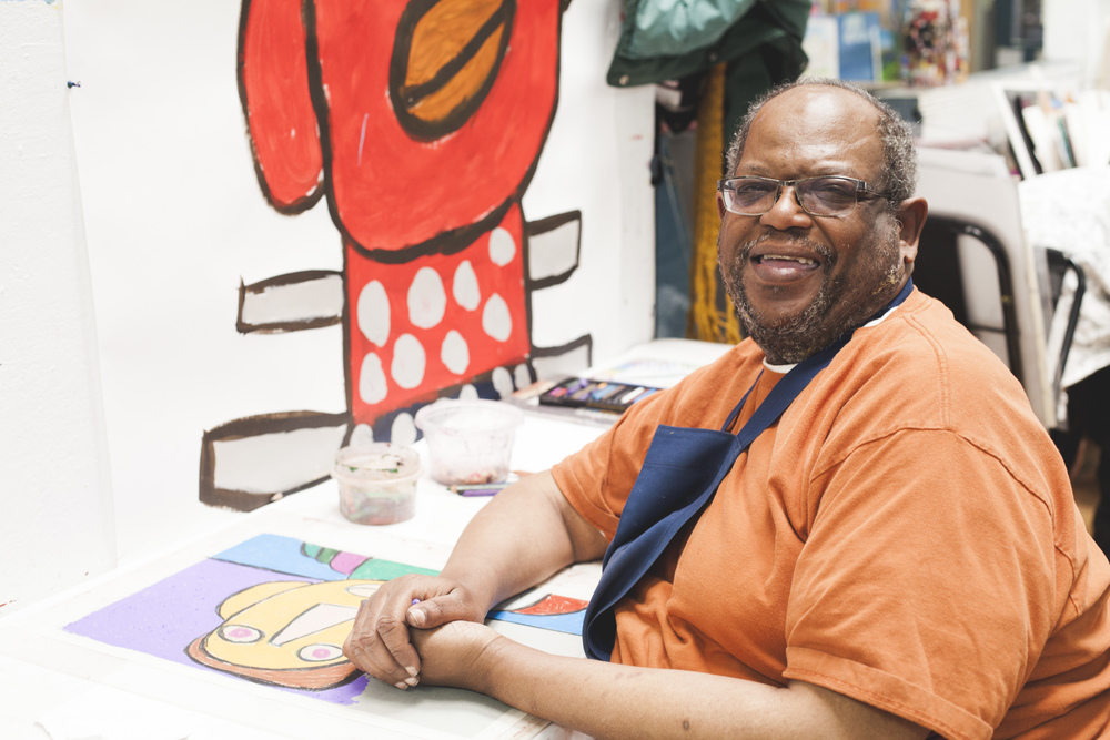Creativity Explored artist Vincent Jackson