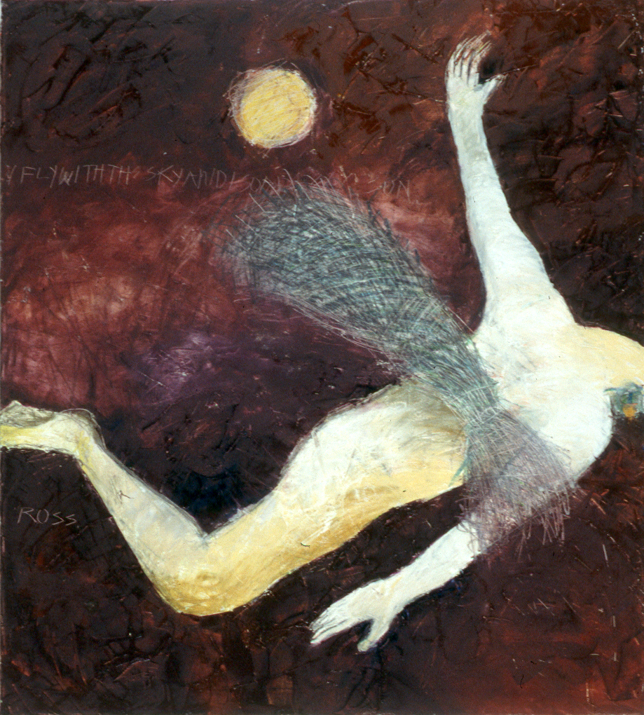 P3.  from ANIMAL POSTURES _Anne Hanson as THE DRAGONFLY   oil on canvas 54x48 1997.jpg