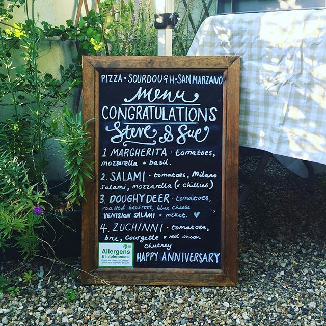 Congratulations Steve and Sue,  Happy 25th Wedding Anniversary! #doughanddeer #summer #hireus #pizza #party