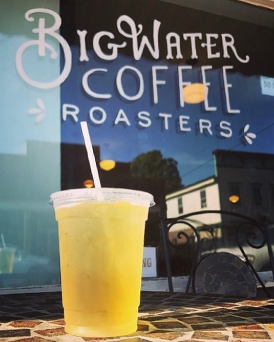 Iced tea from @bayfieldteaco is available at the Big Water Cafe! This is Yellow Bird: green tea, ginger and citrus 📷: @_kysclater