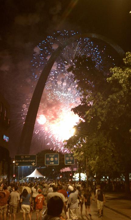 St. Louis Arch Fireworks