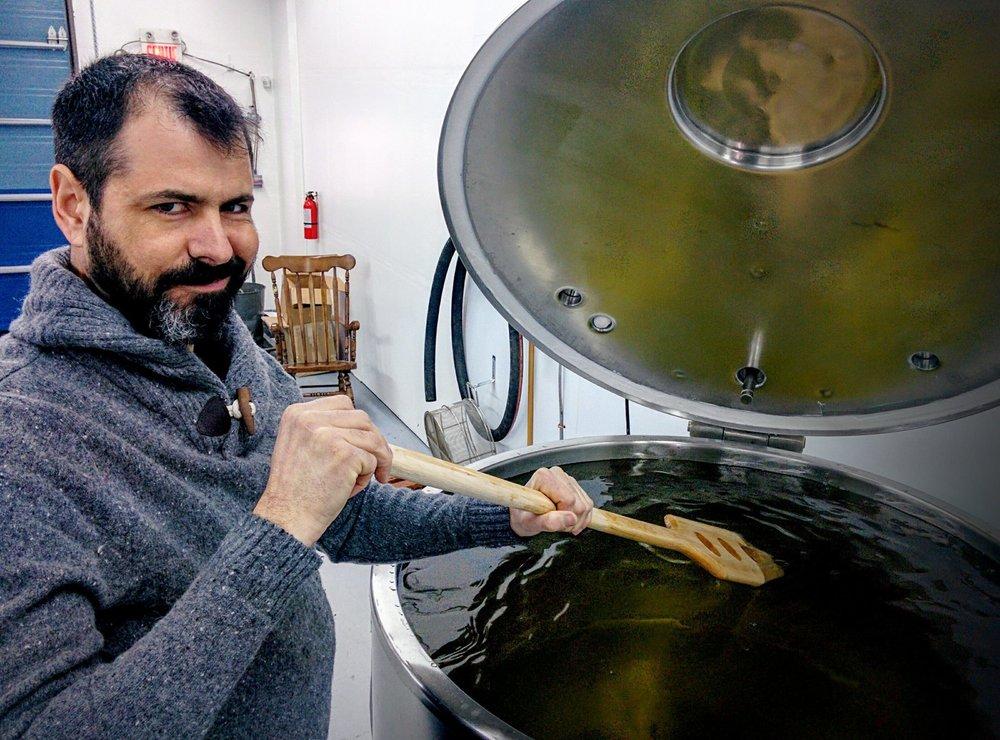JF, co-fondateur de la Distillerie du St-Laurent et LA cuve