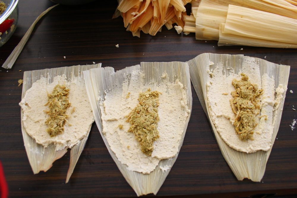 CHILE VERDE CHICKEN TAMALE PARTY